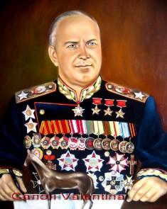 портрет Жукова