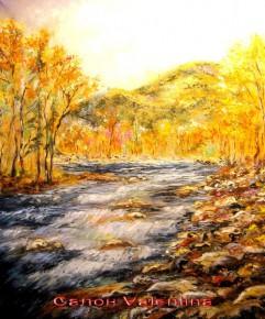 картина Горная река